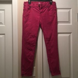 Faded Magenta Free People Crops, Size 28